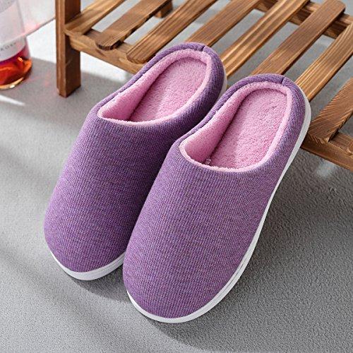 Pantoufle Maison pour Femme Femme Violet INFLATION pour la léger Intérieur Confortable Antidérapant Chaussons et Ultra Maison Rose zAT4Oqw