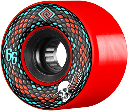 (Powell-Peralta Snakes 66mm 75A Red Skateboard)