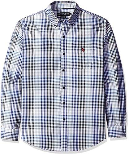 U.S. Polo Assn. Mens Long Sleeve Fancy Gingham Sport Shirt