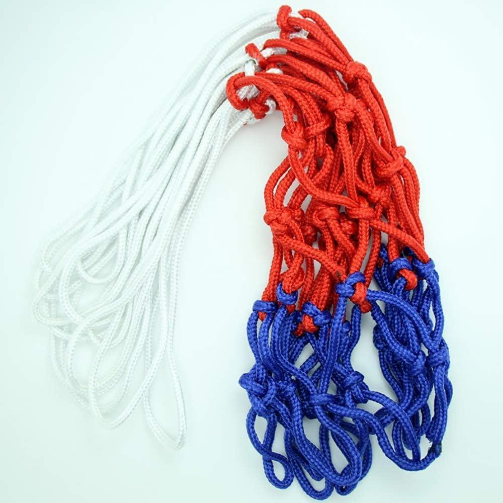 Wmchiwan Canasta de Baloncesto Rojo Blanco y Azul Nylon 12 Bucle para Interior y Aire Libre