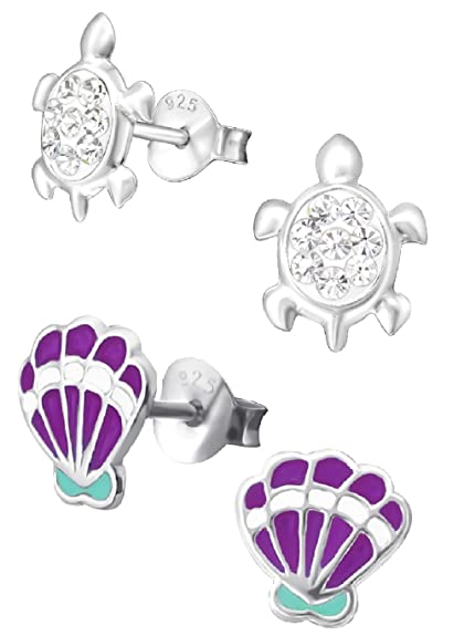 28b81d51525 Image Unavailable. Image not available for. Color  925 Sterling Silver Set  of 2 Pairs ...