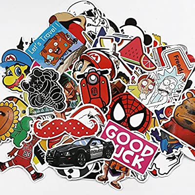 UTSAUTO Graffiti Stickers Decals Pack of 100 pcs Car Stickers Motorcycle Bicycle Skateboard Luggage Phone Pad Laptop Stickers And Bumper Patches Decals Waterproof Type 3