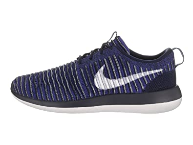 Amazon.com | Nike Mens Roshe Two Flyknit College Navy/White Running Shoe 13  Men US | Running
