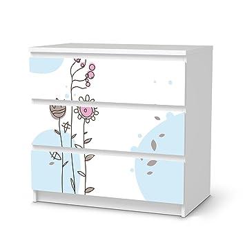 Möbelfolie Für IKEA Malm 3 Schubladen | Deko Folie Klebesticker Tapete  Folie Möbel Folieren |