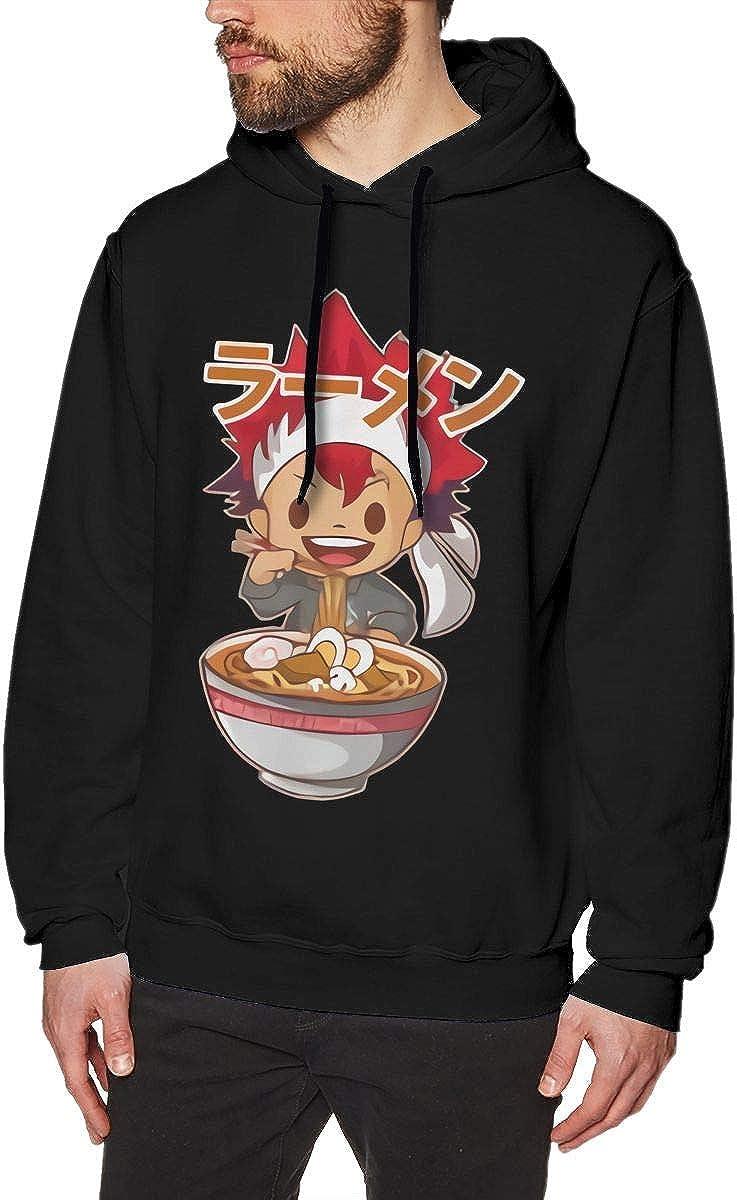 Fashion Mens Animw Food Wars Hoodie Long Sleeve Hoodie Sweatshirt