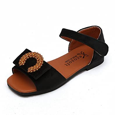 Toddler//Little Kid CYBLING Toddler Girls Open Toe Strap Sandals Summer Fashion Flat Princess Shoes