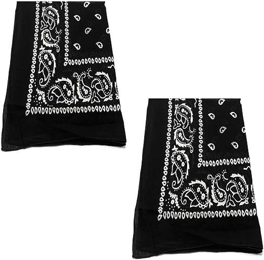 """Paisley Patterns New Cotton Bandana 22/""""x22/"""" Solid"""