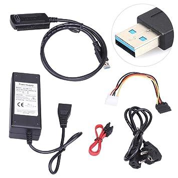 USB 3.0 a SATA/IDE USB 3.0 5.25DVD RW, Adaptador de Disco Duro ...