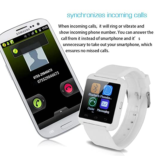 Amazon.com: New Arrival Bluetooth Smart Wristband Watch Phone with HD 1.44 Inch Screen Hands-free Microphone for Android Smartphone, Samsung S5,S4,S3,S2 ...