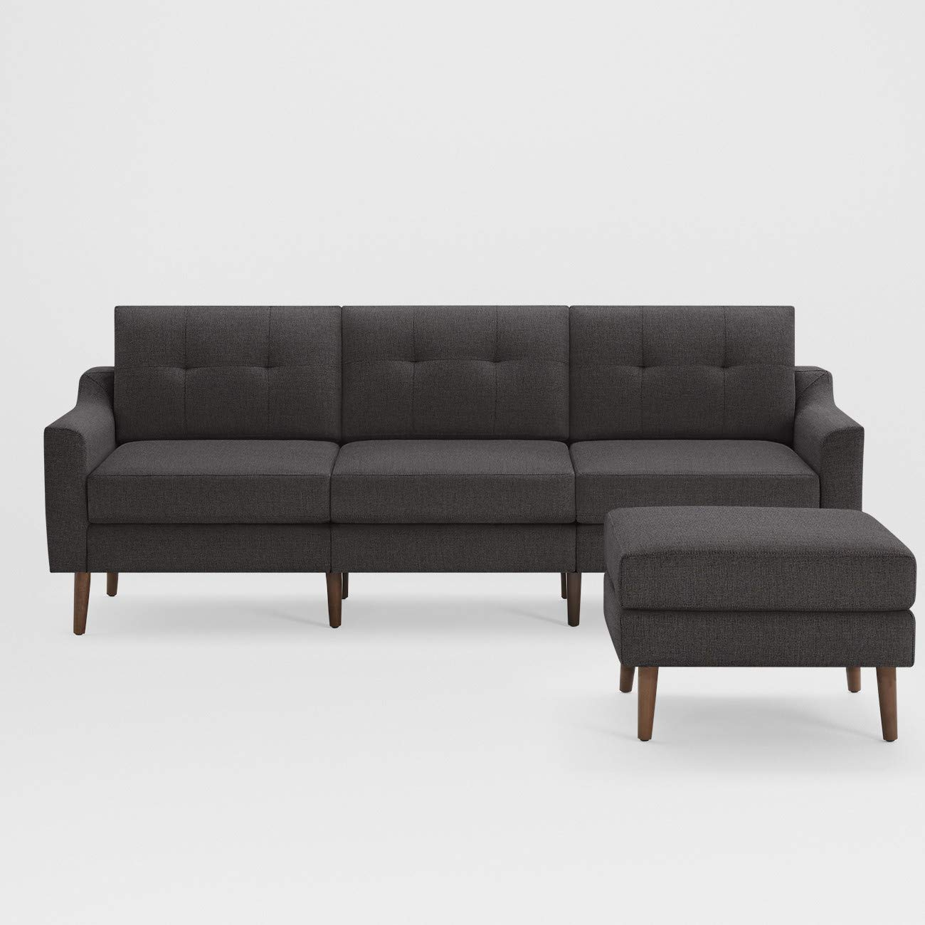 Brilliant Amazon Com Burrow Nomad Mid Century Modern Fabric King Sofa Machost Co Dining Chair Design Ideas Machostcouk