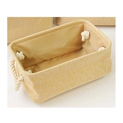 Saint Kaiko Tela Cajas de Almacenaje Decorativas Cestas de Almacenamiento Cajón de almacenamiento plegable Cubo de