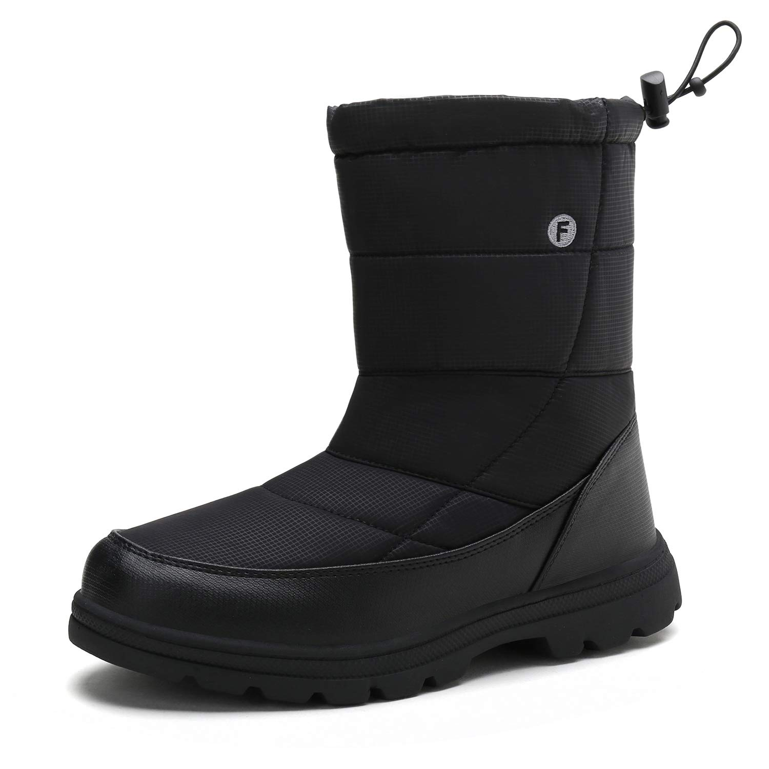 d6278607c5c Snow Boots Mens Womens Winter Fur Lined Waterproof Warm Boots Outdoor  Walking Non-Slip Shoes with High Traction Sole