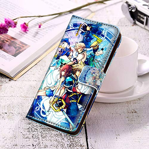 DISNEY COLLECTION Kingdom Hearts II Leather Wallet Case Compatible with Galaxy S10+ [6.4-Inch] Full-Body