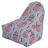Majestic Home Goods Salmon Michelle Kick-It Chair