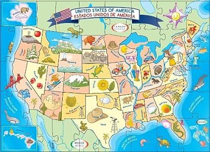 USA MAP PUZZLE: Amazon.es: Juguetes y juegos