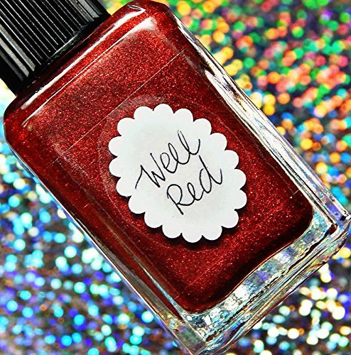 Lynnderella Limited Edition— Metallic Red Nano Glitter Nail Polish—Well Red Polish Well