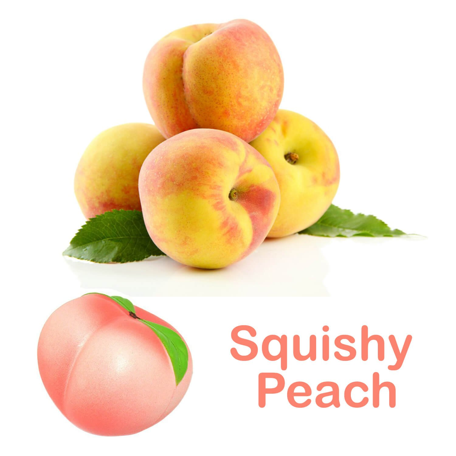 Squishies Slow Rising Jumbo Fruit - Prime 4 Pack Kawaii Squishy Toys Package Strawberry Peach Banana Apple Giant Scented Fruit Pack Cute Squishys Super Soft Stress Relief GIFT For Kids & Adults by Buylet Squishies (Image #8)