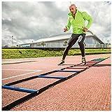Atreq Soccer Sports Fitness Speed Agility Feet Training Multi-coloured Ladder 8m