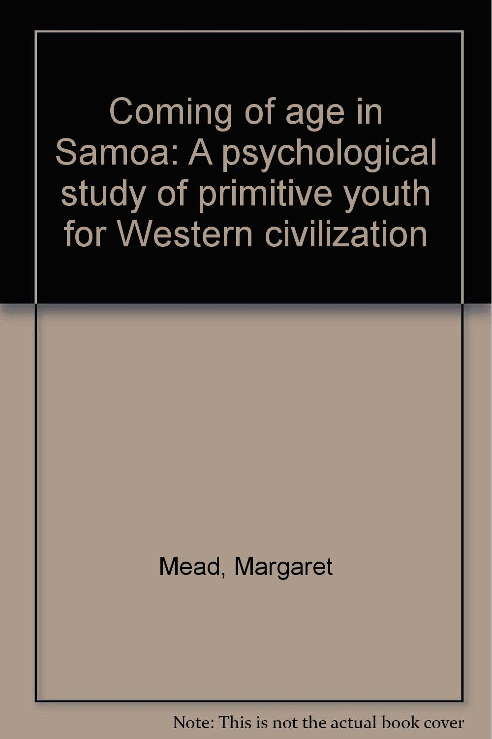 margaret mead coming of age in samoa