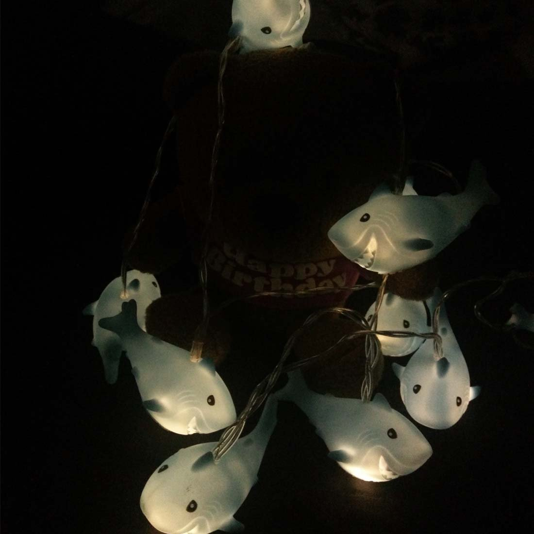 Penfly 1.65m 10LEDs Octopus Shape Decorative Fairy Night Mood Light Romantic Lamp for Home Indoor Bedroom Babyroom Children Wedding Party Festival D/écor Warm White Octopus