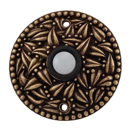 (Vicenza Designs D4013 San Michele Doorbell, Antique Brass)