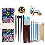Onshine Sculpting Tools Polymer Clay Tools 18 Pcs Ball Stylus Dotting Tools Set Rock Painting Kit for Pottery Modeling Clay Sculpture