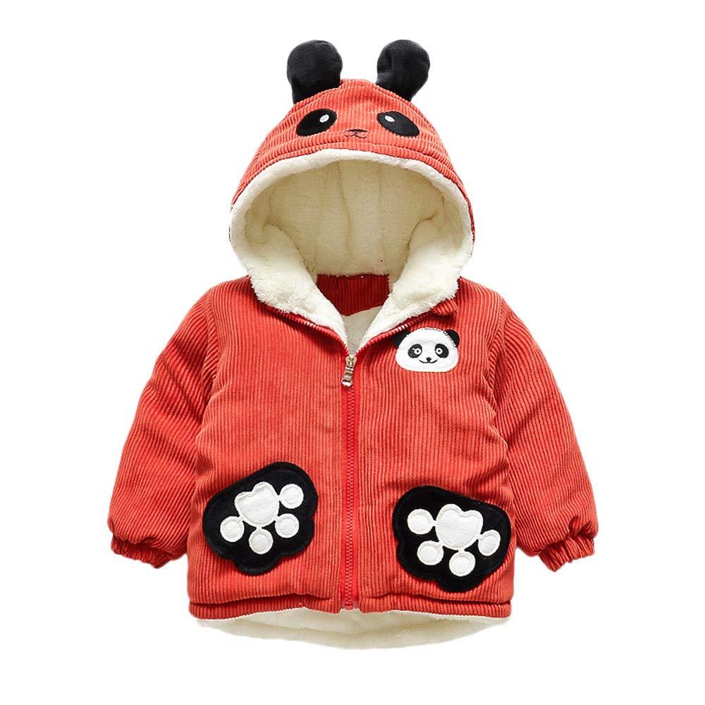 Londony▼ Clearance Sale,(12M-3Y) Kids Toddler Baby Long Sleeve Thicken Corduroy Panda Ear Hooded Outwear