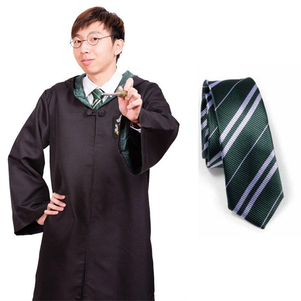 DEEPFL Harry Potter Hogwarts Disfraz con Capa y Corbata de Seda ...