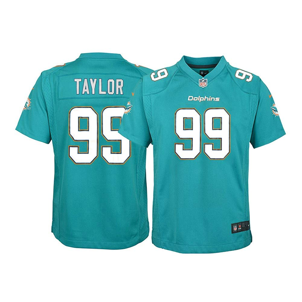 new styles 5d397 16c39 Amazon.com : Nike Jason Taylor Miami Dolphins NFL Youth Teal ...