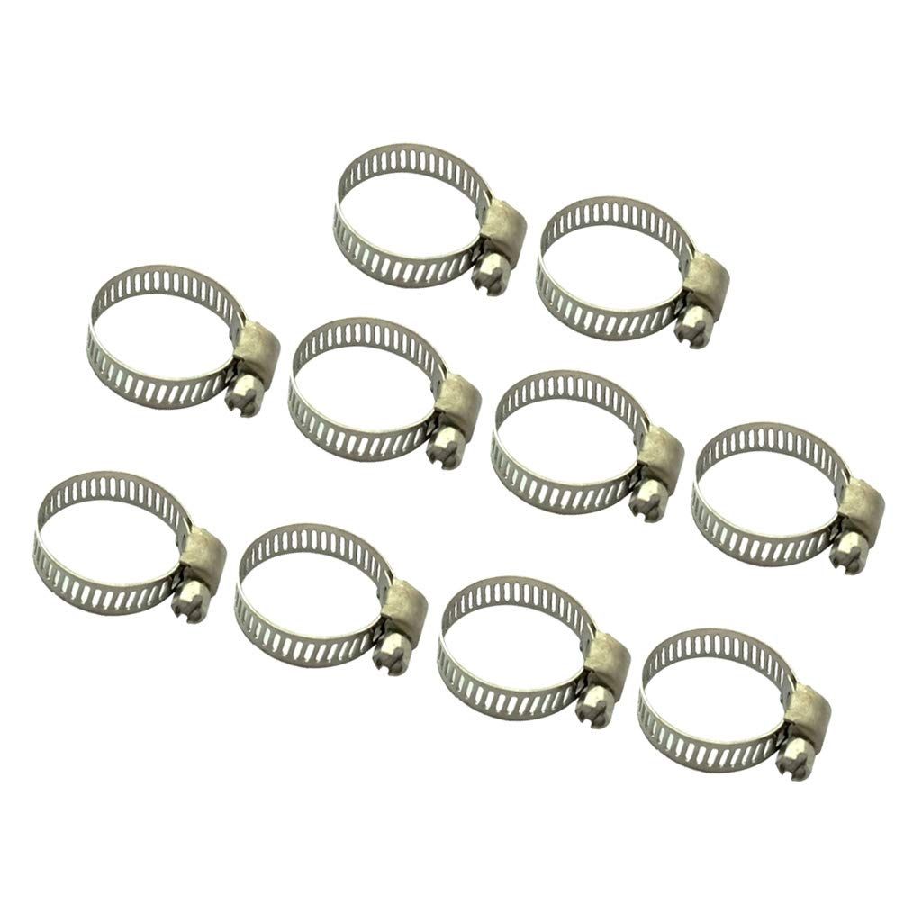 Almencla 10pcs Hose Clip Set Tube Clamp Easy Turn Butterfly Jubilee Type 19-29mm Clamps