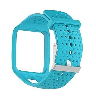 ruentech accesorios suave silicona bandas de reloj pulsera Correas Banda de deporte pulseras de repuesto para