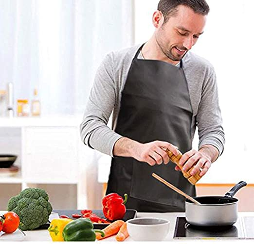 Details about  /Waterproof /&Oil Proof Adjustable Apron Men Women Kitchen Restaurant Chef Cook pu