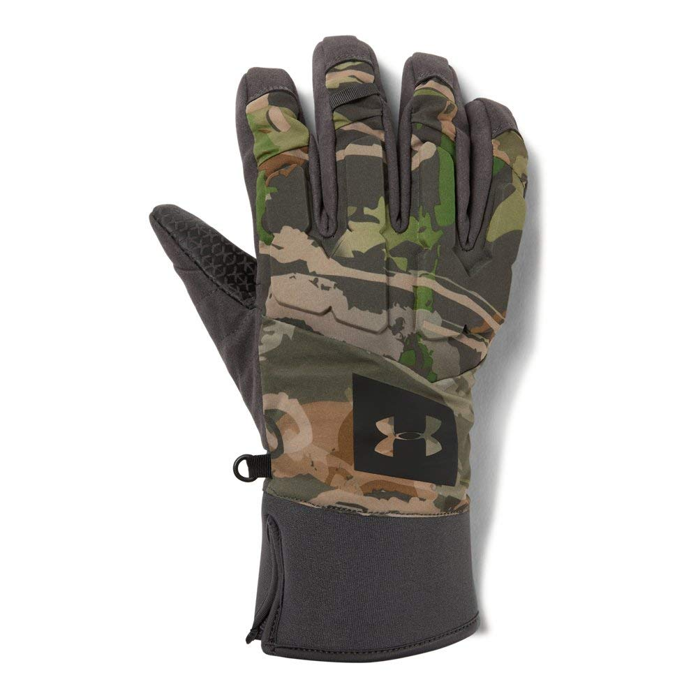 Under Armour Men's Mid Season Windstopper Gloves, UA Forest Camo (940)/Black, Large
