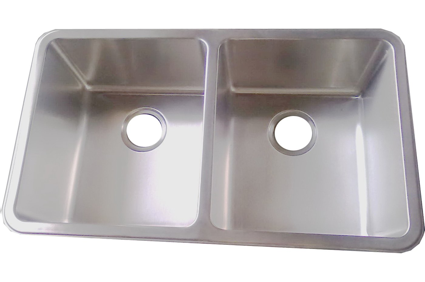 Kitchen Sinks Undermount Double Bowl Brushed Stainless Steel D01