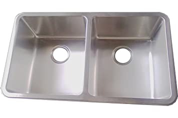 kitchen sinks undermount double bowl brushed stainless steel d01. Interior Design Ideas. Home Design Ideas