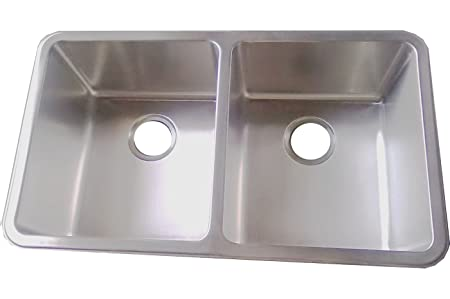 Kitchen Sinks Undermount Double Bowl Brushed Stainless Steel (D01)
