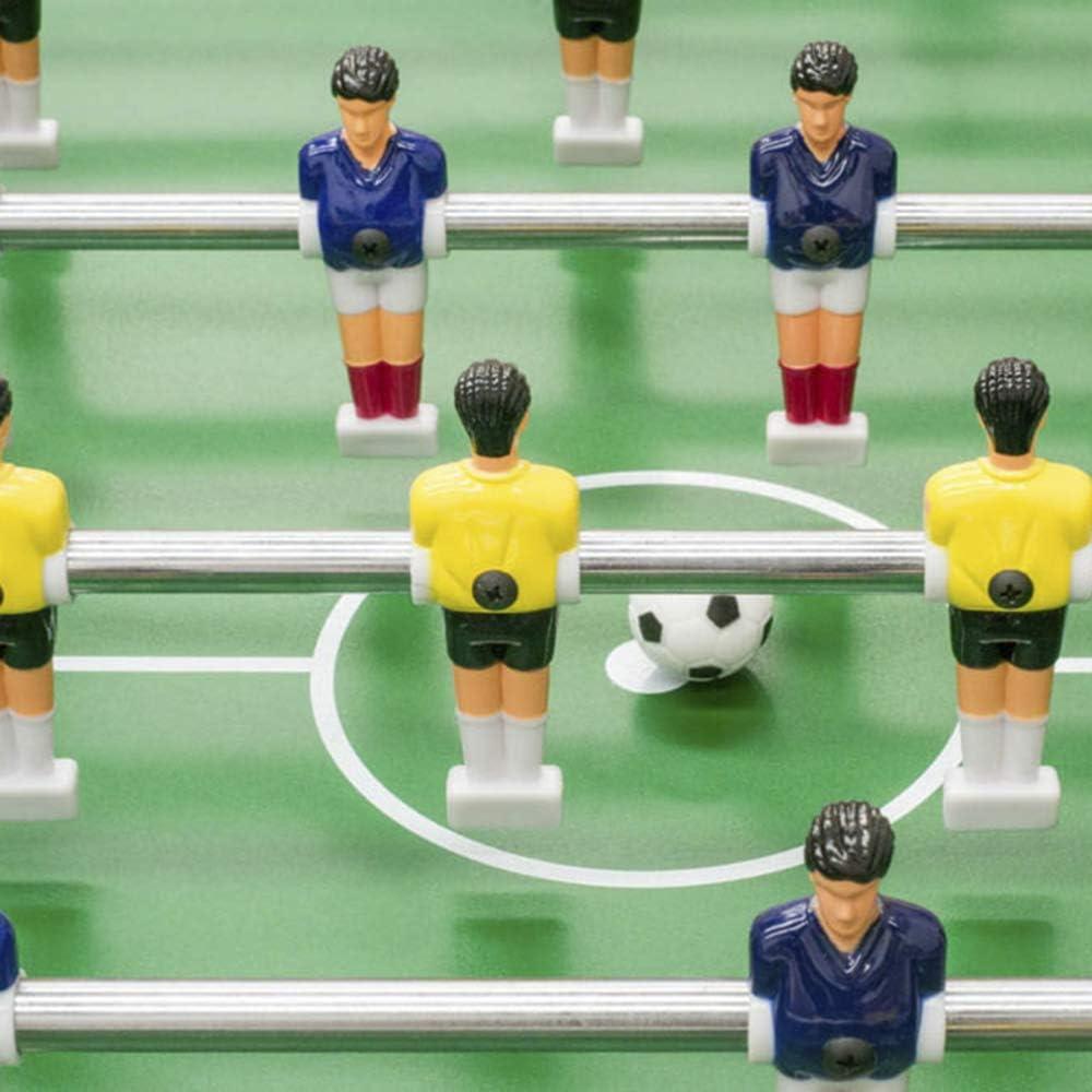Devessport - Futbolín Infantil Plegable Recomendado para niños a Partir de 7 años - Patas Plegables - Barras telescópicas - Fácil de Guardar - Maracaná - Medidas: 118 x 60.5 x 78 Cm: Amazon.es: Juguetes y juegos