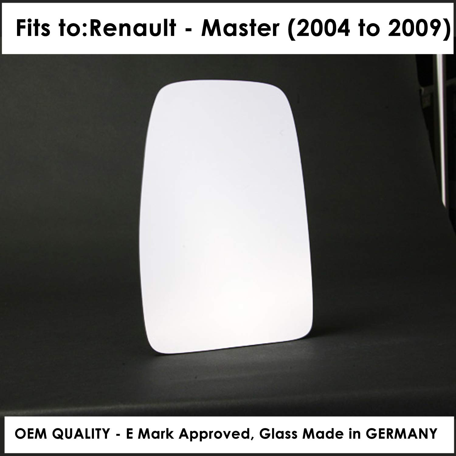 Year 2010 To 2018 85mm Diameter fitting Left Hand Side Door Mirror Glass Convex For RNLT-Master III