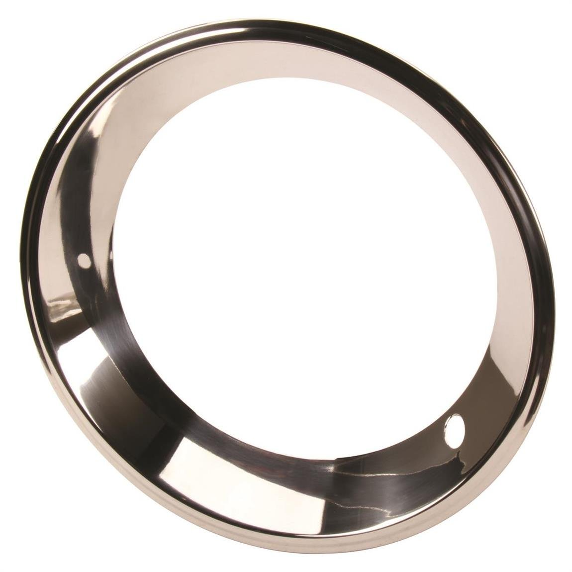 Stainless Steel Beauty Ring, 15 In GM Rally Wheel, 2.5 In Wide by Speedway Motors