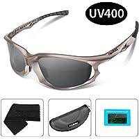 KKUP2U Sport Sonnenbrille Polarisiert Sportbrille Fahrradbrille UV400 Schutz Extra Leicht TR90 für Herren und Damen Rad Autofahren Laufen Golf
