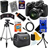 Nikon COOLPIX P530 16.1 MP CMOS Digital Camera with 42x Zoom NIKKOR Lens and Full HD 1080p Video - Black - International Version (No Warranty) + EN-EL5 Battery & AC/DC Battery Charger + 10pc Bundle 16GB Deluxe Accessory Kit w/ HeroFiber Ultra Gentle Cleaning Cloth