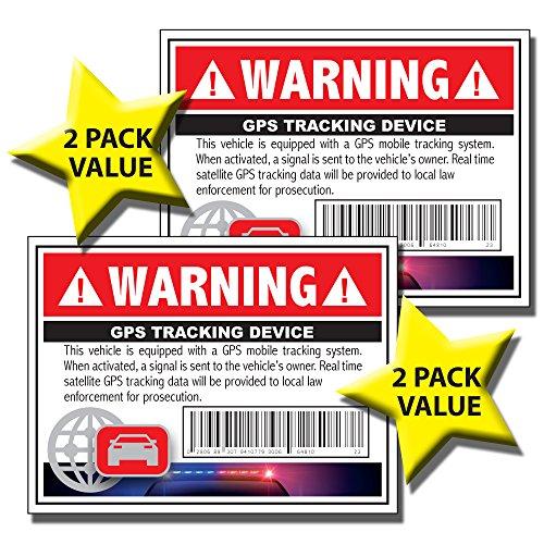 Good Egg Mom, LLC GPS Tracking Anti-Theft Security Alarm Sticker/Decal - Vehicle, RV, Trailer, ATV ()