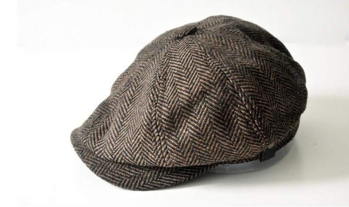 Cap for Men New Newsboy Caps Retro Driving Men Wool Fleece Hat Mens Autumn Winter Hats in Size 60