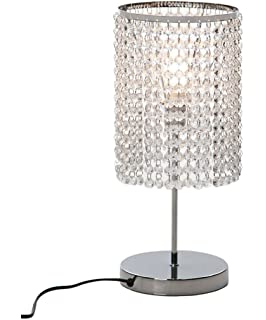 Surpars House Raindrop Silver Crystal Table Lamp For Bedroom Living