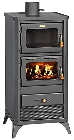 Estufa de leña horno cocina estufa cocina chimenea 12 kW Prity FME: Amazon.es: Bricolaje y herramientas