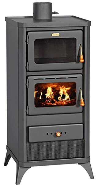 Estufa de leña horno cocina estufa cocina chimenea 12 kW Prity FME ...