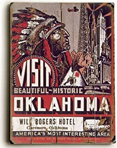 Visit Oklahoma Will Rogers Hotel by unknown. Size 24.00 X 18.00 Art Poster Print