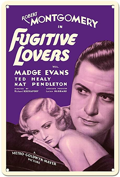 Nololy Fugitive Lovers Robert Montgomery Cartel De Chapa ...