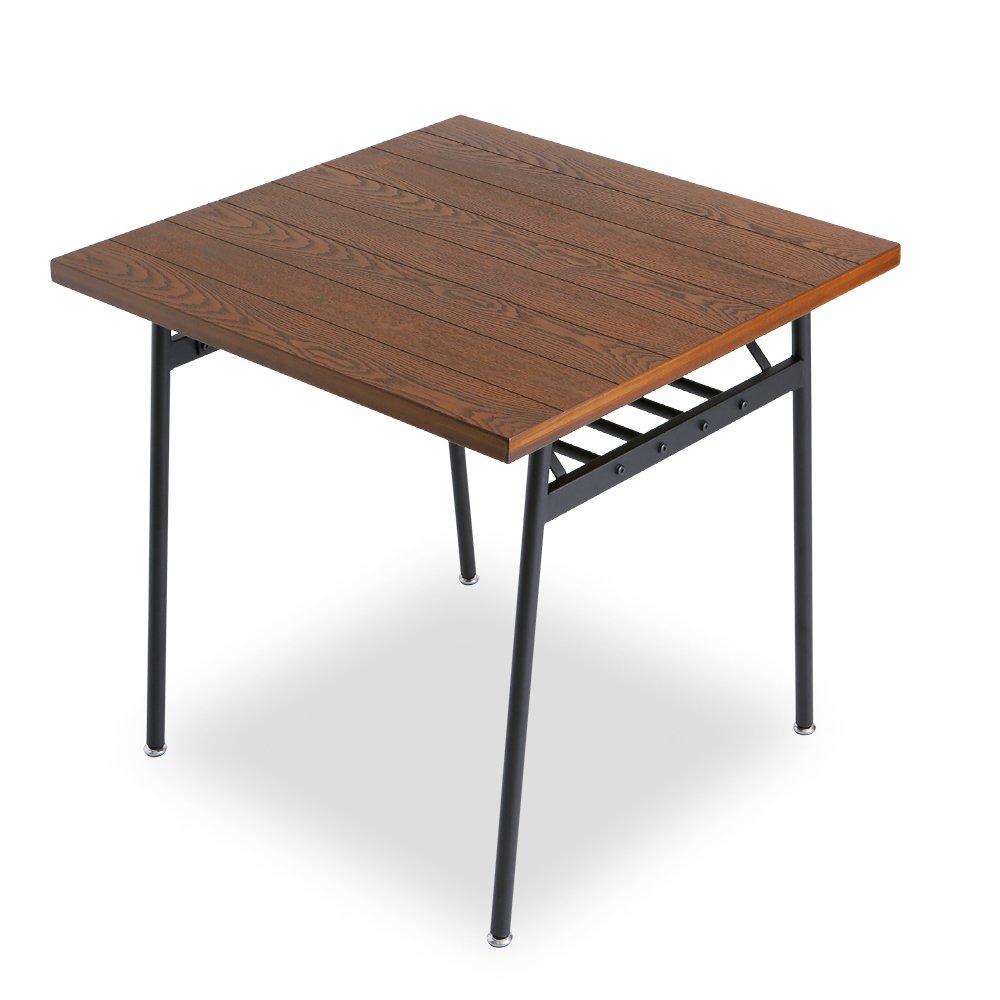 LOWYA (ロウヤ) ダイニングテーブル 単品 タモ材 天然木 木製 テーブル 2人掛け 幅75cm 正方形 ブラウン おしゃれ 新生活 B01B2ODAG8 Parent ブラウン 【テーブル単品】2人掛け