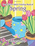 #10: Large Print Adult Coloring Book of Spring: An Easy and Simple Coloring Book for Adults of Spring with Flowers, Butterflies, Country Scenes, Designs, ... (Easy Coloring Books For Adults) (Volume 12)